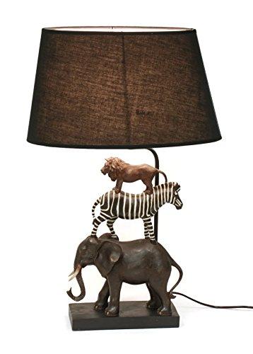 Bada Bing Hochwertige Tischlampe Safari Lampe Dekolampe Stehleuchte