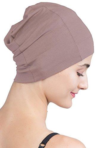 Gemütlicher Schlafmütze - Unisex weiche Nacht Cap für Chemo von Deresin (Mink) (Kopfbedeckung Unisex)
