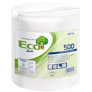 Brico-materiaux - Essuie-tout compact / Bobine dévidage central - 6 bobines 500 formats ouate blanche