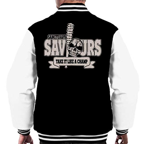 Cloud City 7 Walking Dead Sanctuary Saviours Men's Varsity Jacket