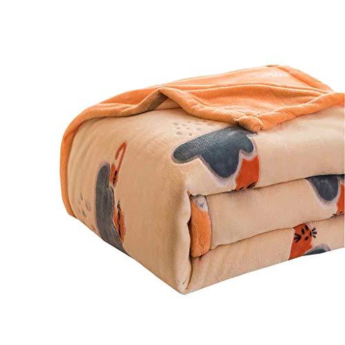 Decken, Doppel Dicke Decken, Freizeit Decken, Schlafdecken, Winter warme Decken, Wolke Samt Dicke Decken. (Color : A, Size : 120cm*200cm(0.7kg))
