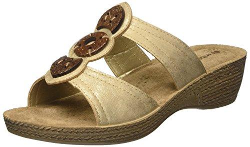 INBLU Damen Gloria Flip-Flops Beige (Sabbia)