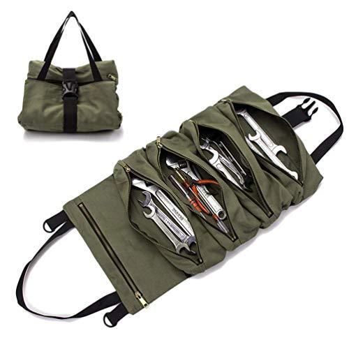 e Tool Bag Multifunktionale Faltbare Tragbare Handliche Roll Up Werkzeugtasche mit Kfz Werkzeugen ()