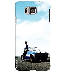 Omnam Paul Walker From Fast And Furious Pose Designer Back Cover Case For Samsung Galaxy Alpha