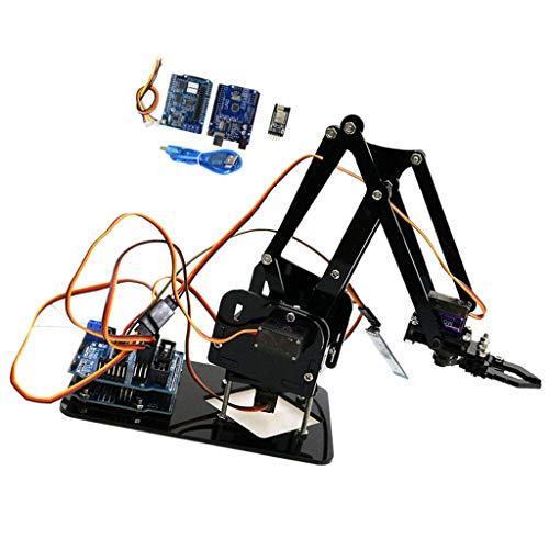 SM SunniMix Arduino Roboterarm mit 4X Servo + 1x WiFi Controller für Schüler und Lehrer, aus Plastik und Metall