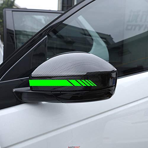 Autodomy Rückspiegel Aufkleber Auto mit Streifen Design Stripes Packet mit 6 Einheiten mit unterschiedlichen Breiten für das Auto (Neon Grün) -