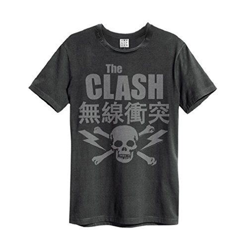Amplified The Clash Bolt T-Shirt Charcoal