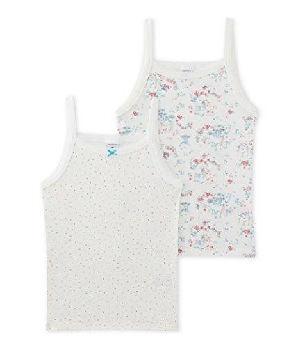 Petit Bateau Mädchen Unterhemd Lot 2P Chem Bret, Mehrfarbig (Special Lot 00), 140 (Herstellergröße: 10ans/140cm) (Bateau Petit Unterhemd)