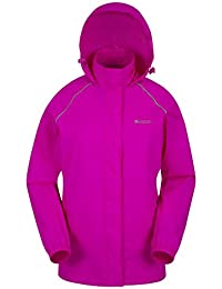 Mountain Warehouse Pakka Womens Jacket – Waterproof Rain Coat, Packable Casual Jacket, Breathable, Lightweight, Comfortable Ladies Coat – For Travelling, Walking