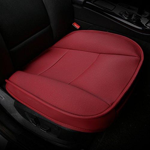 Preisvergleich Produktbild SENSUDE Auto Sitzbezug,  PU Leder Breathable Komfortable Rutschfeste Gesundheit Auto Sitzkissen für Vier Jahreszeiten Universal (Rot)