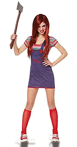 Costumes Chucky Fille Halloween - Sassy Child's Play Chucky Teen