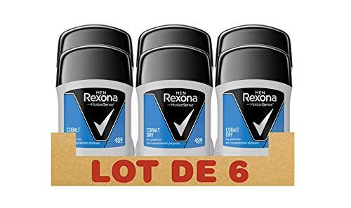 Rexona Men Deostick Cobalt Dry Anti-Transpirant, 6er Pack (6x 50 ml) - Männer Deo