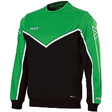 Mitre Men Primero Poly Football Training Sweatshirt - Emerald/Black/White Small