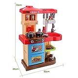 """deAO Kinder-Küchenspielset """"My Little Chef""""(""""Mein kleiner Koch"""") mit 30-teiligem Zubehör in den Farben Rot oder Pink erhältlich - 7"""