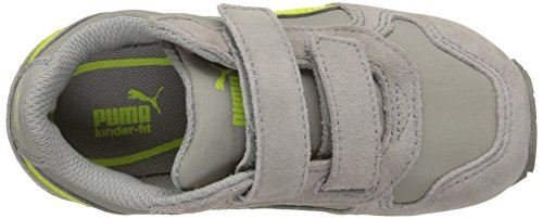Puma Unisex-Kinder St Runner Nl V Inf Low-Top Grau (limestone gray-lime punch 09)