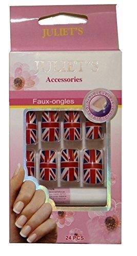 Union Jack-Kit faux ongles prêt à poser French Manucure Pierre-cedric !