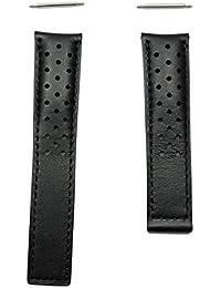 Correa piel negra perforada FC6233 modelos TAG Heuer Carrera