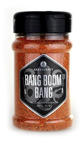 Preisvergleich Produktbild Ankerkraut Bang Boom Bang,  210g im Streuer,  Scharfer Spicy BBQ Rub,  Gewürzzubereitung für Fleisch