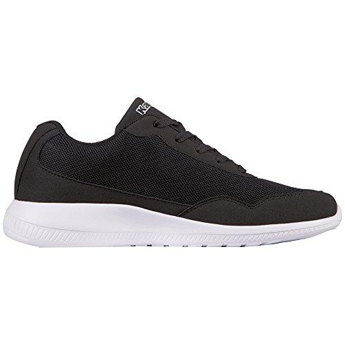 Kappa Unisex Adulti 242495-1110 Sneaker Nero (1110 Bianco / Nero)