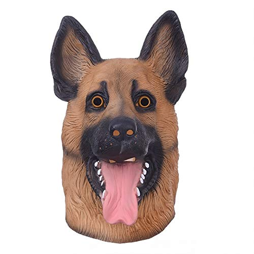 DERKOLY Halloween Hund Latex Tierkopf Spielzeug Cosplay Kostüm Party Requisiten Horror Maske