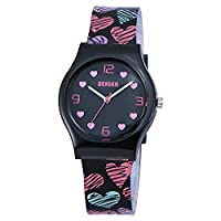 Zeiger Kids Watches Sports Watch for Girls Lovely Student Watch Resin Strap Wristwatch KW033