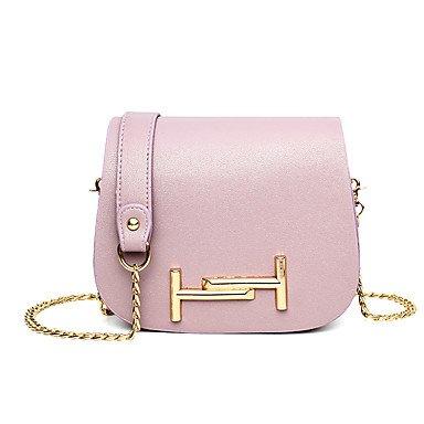 Damenmode PU Leder Schulter Messenger Bags/Handtasche Light Purple