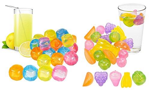 20unidades plástico reutilizable cubitos de hielo con forma de fruta