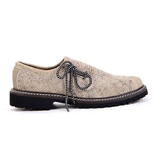 Almbock Trachtenschuhe beige alt-antik - exclusive Herren-Schuhe, hochwertig und extravagant, leicht, alt-antik Design, Größe 40 41 42 43 44 45 (Trachten Herren Grün Stiefel)