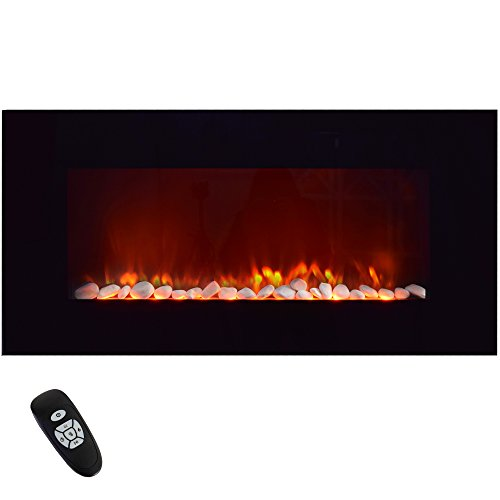 Syntrox Germany – Chimenea Chimenea Eléctrica de pared horizontal con mando a distancia WKF...