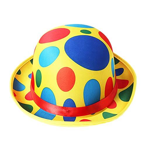 Xsj Bequeme Bunte Kreative Erwachsene Clown-Performance Hut Kopfbedeckung Cosplay Requisiten Hut Für Party Cosplay Halloween Kostüm