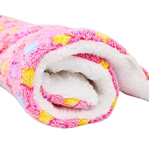 Haodou Hundebett Hundekissen Rosa Sternenhimmel Decke Matte Mimi Softe Warme Flanell Hundedecke Katzendecke Fleecedecke Schlafplatz Hund Katzen Haustier für den Winter(70 * 55CM) -
