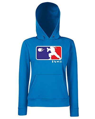 T-Shirtshock - Sweats a capuche Femme TGAM0063 SFL Bleu Royal