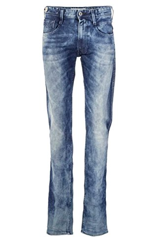 Replay Herren Jeans Slim Leg ANBASS ARTISAN WASH LIMETED EDITION M914 034 855 570 Blau