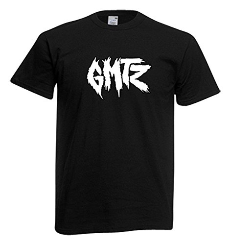 T-Shirt Logo GMTZ Machete Production Gemitaiz QVC Rap Idea Regalo Nero