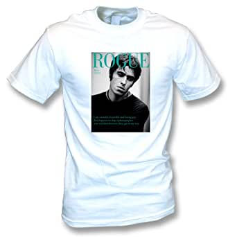 Liam Gallagher (Oasis/Beady Eye) Rogue Mens T-shirt In White (Small)