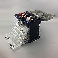 Al Aire Libre Caja de Herramientas plástica Espesada portátil Multifuncional de la Pesca de la Caja de los trastos de Pesca, 4 Capas Interesante