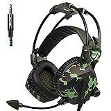 SLB Works Sades SA-931 Stereo Deep Bass Gaming Headset Headphone with Microphone