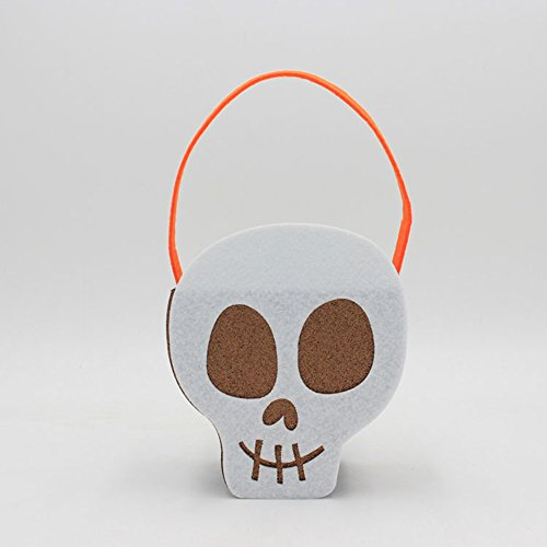 FairOnly Halloween-Kostüm, Filz, kreatives Vlies Geist, Kürbis Totenkopf, Handtaschen-Dekoration, Requisiten Skelett