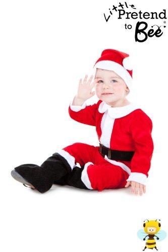 Kostüm Bee Kleinkind Little - Childrens Toddler Cute Little Santa Suit Christmas Costume 3 - 5 Years