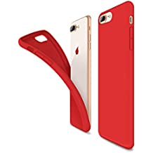 Cover iPhone 8 Plus, Cover iPhone 7 Plus, Humixx Flessibile Gel Silicone Rubber Cover Con Morbido Cuscino In Microfibra, Antigraffio Anti Skid Soft Touch Protettiva Case /Silk Series/