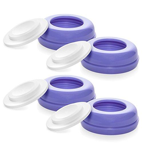 Verschlussplättchen inkl. Ring für Lansinoh Flaschen, 4 Stück
