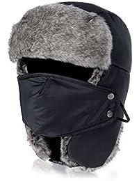 Vbiger Wintermütze Outdoor Mütze Sport Mütze Fliegermütze Pilotenmütze Fellmütze für Herren und Damen