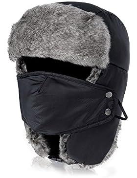 Vbiger Cappello Cosacco Pelliccia Sintetica Anti-vento Caldo Antipolvere per Ski Inverno in Bicicletta