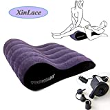 1pcs Purple Portable Inflatable Bed Pillow for Couple Travel Bed Motor Skills+1pcs Electric