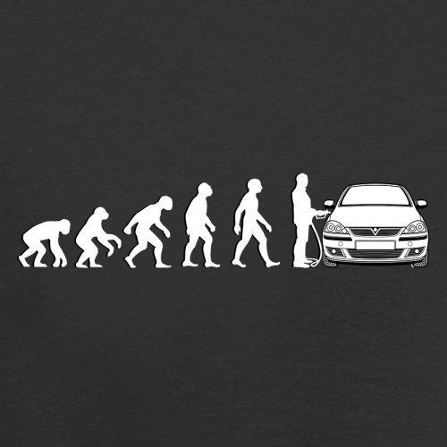 Evolution of Man - Corsa Fahrer - Herren T-Shirt - 13 Farben Schwarz