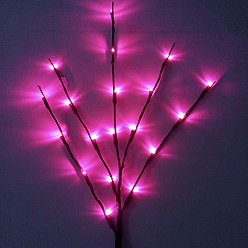 sakj-d Hochzeit LED Lichter, Zweig Saiten, Innenbeleuchtung, Äste, Weihnachtsschmuck, Weihnachtsschmuck, Rosa
