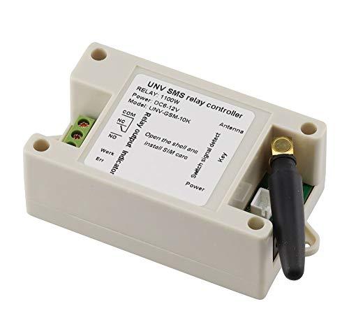 Aihasd 1 Kanal Relaismodul SMS Anruf GSM Fernsteuerungsschalter SIM800C STM32F103CBT6 mit Etui und Schraubendreher -