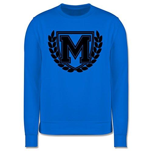 Anfangsbuchstaben - M Collegestyle - Herren Premium Pullover Himmelblau