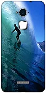 Snoogg Surfer Style 2 Solid Snap On - Back Cover all Around protection For Coolpad Note 3 (White, 16GB)