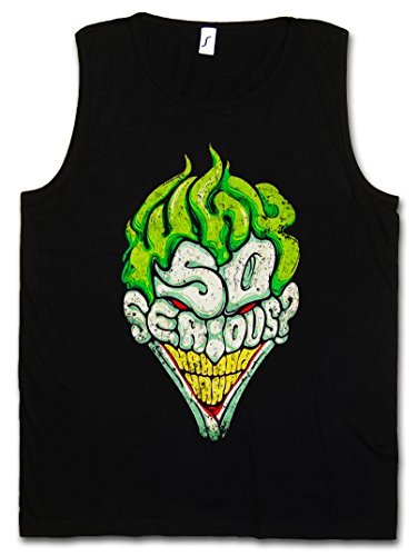 WHY SO SERIOUS CANOTTA TANK TOP - Batman Gotham le TV City Dark Wayne Knight Joker CANOTTA TANK TOP Taglie S - 5XL